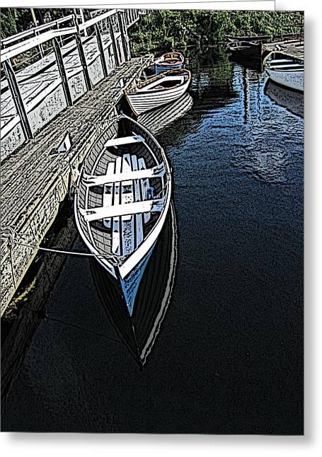 Tim Allen Greeting Cards - Dockside Quietude Greeting Card by Tim Allen