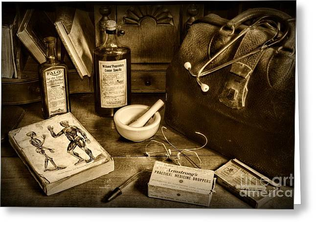 Medic Greeting Cards - Doctor - Have Bag will Travel Greeting Card by Paul Ward