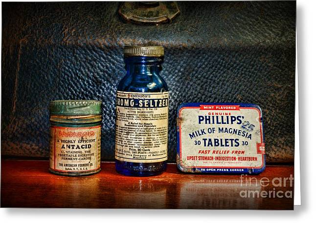 Medication Greeting Cards - Doctor  I have an Upset Stomach Greeting Card by Paul Ward