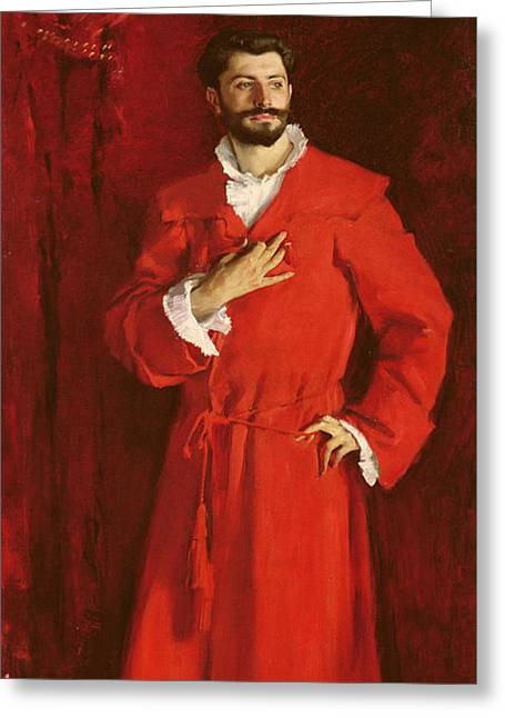 Doctor Pozzi At Home, 1881 Greeting Card by John Singer Sargent