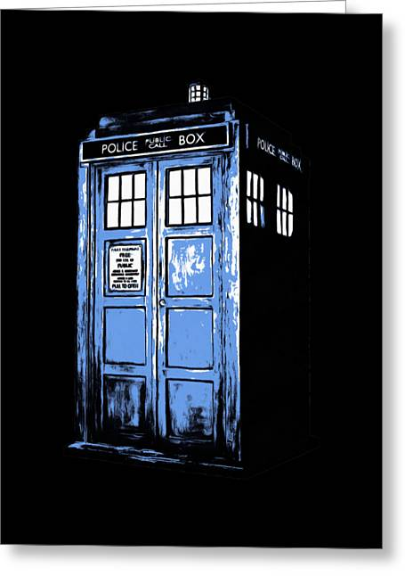 Doctor Who Tardis Greeting Card by Edward Fielding