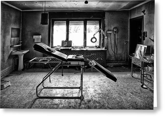 Abandoned Places Greeting Cards - Doctors cabinet - abandoned building Greeting Card by Dirk Ercken