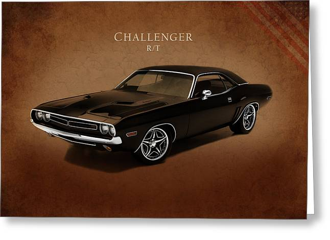 Rt. Greeting Cards - Dodge Challenger RT Greeting Card by Mark Rogan