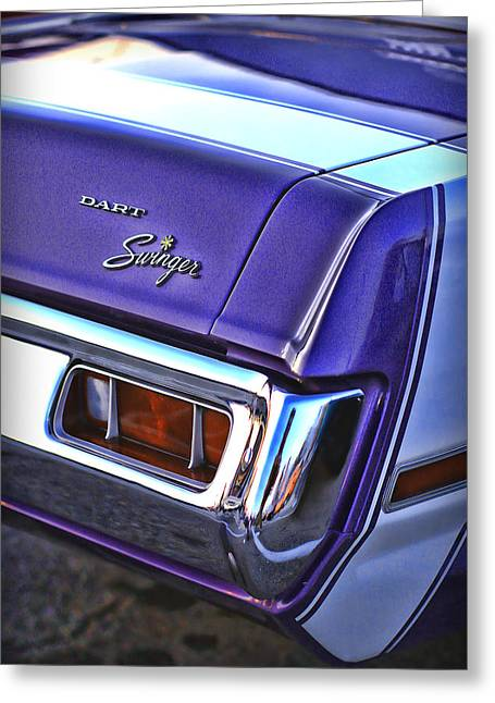 Side Panel Greeting Cards - Dodge Dart Swinger Greeting Card by Gordon Dean II