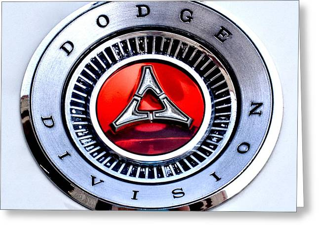 Division Greeting Cards - Dodge Division Classic Car Emblem Greeting Card by Amy McDaniel