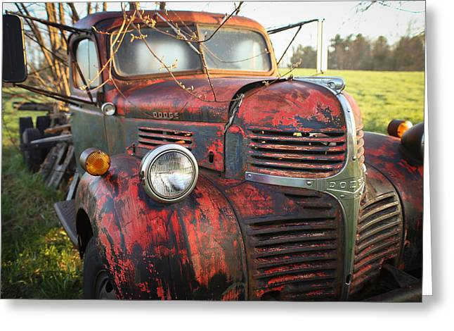 Maine Spring Greeting Cards - Dodge in spring Greeting Card by Jonathan Woodbury