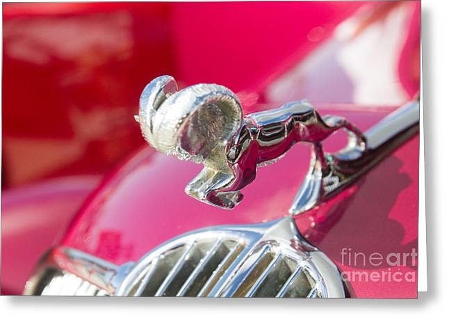 Dodge Ram Hood Ornament By Darrell Hutto Greeting Card by J Darrell Hutto