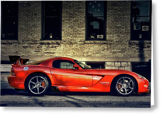 Dodge Viper Greeting Card by Joel Witmeyer