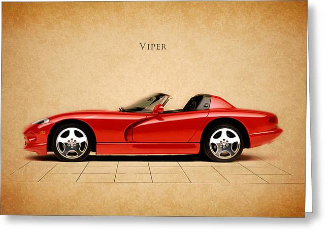 Rt. Greeting Cards - Dodge Viper RT Greeting Card by Mark Rogan