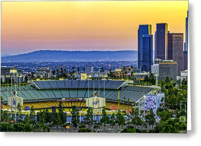 Dodger Stadium Greeting Card by Art K