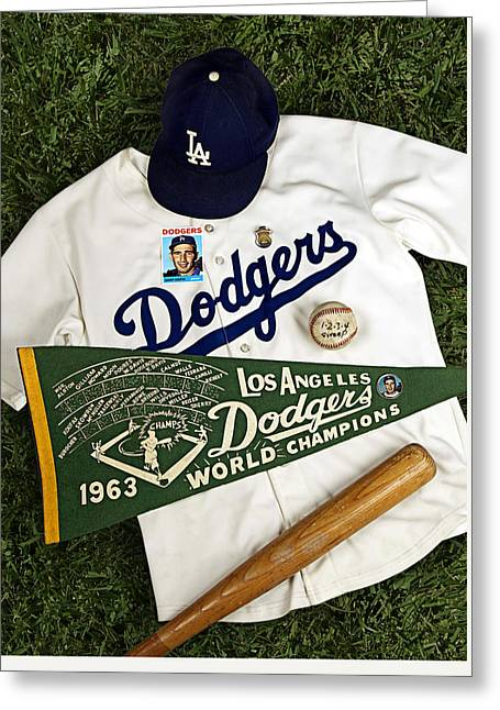 Dodgers Sweep Yankees Greeting Card by Ron Regalado