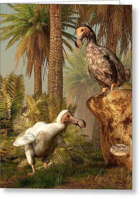 Raphus Cucullatus Greeting Cards - Dodo Hide N Seek Greeting Card by Daniel Eskridge