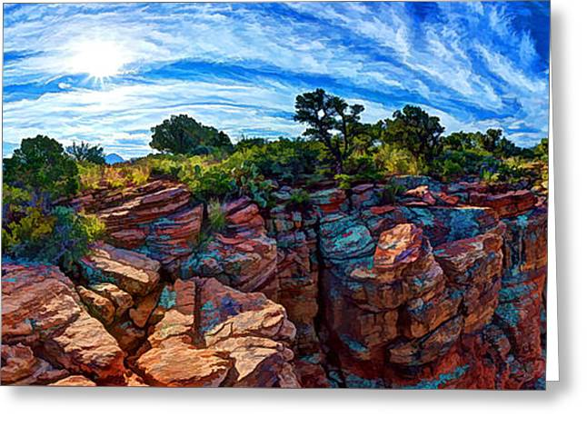 Colorful Cloud Formations Greeting Cards - Doe Mountain Magic 1 Greeting Card by Bill Caldwell -        ABeautifulSky Photography