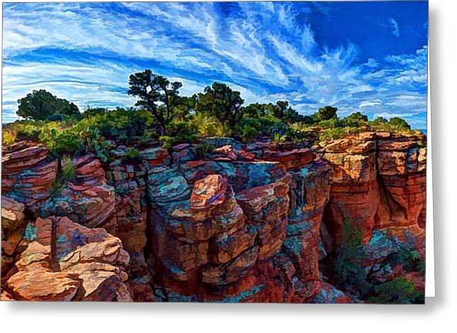 Colorful Cloud Formations Greeting Cards - Doe Mountain Magic 2 Greeting Card by Bill Caldwell -        ABeautifulSky Photography