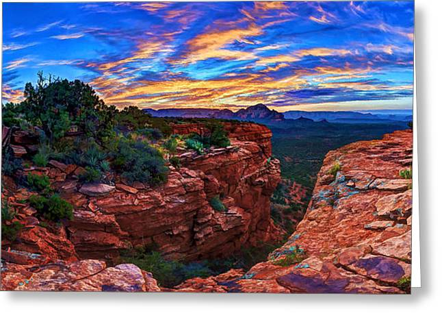 Colorful Cloud Formations Greeting Cards - Doe Mountain Sunrise Greeting Card by Bill Caldwell -        ABeautifulSky Photography