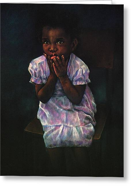 Kid Pastels Greeting Cards - Does Jesus Love Me Greeting Card by Curtis James