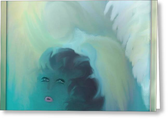 Sherri Painting Greeting Card featuring the digital art Does She Know Or Does She Care by Sherri  Of Palm Springs
