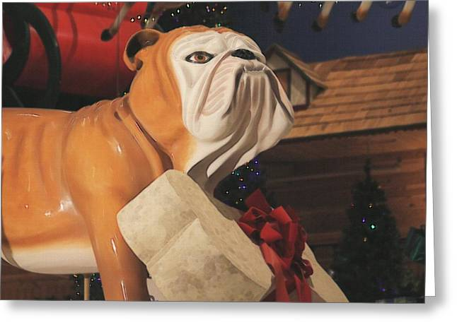 Doggies Greeting Cards - Dog And His Bone Greeting Card by G Berry