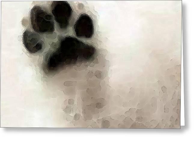 Dog Art - I Paw You Greeting Card by Sharon Cummings