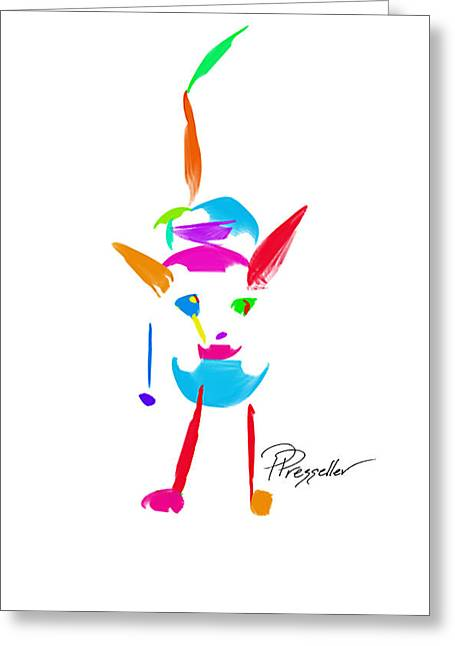 Puppy Digital Art Greeting Cards - Dog Days II Greeting Card by Patricia Presseller