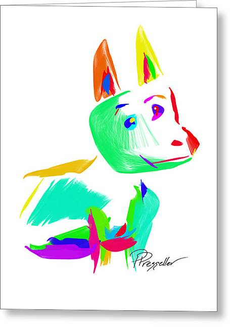 Puppy Digital Art Greeting Cards - Dog Days III Greeting Card by Patricia Presseller