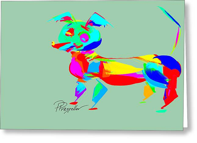 Puppy Digital Art Greeting Cards - Dog Days IV Greeting Card by Patricia Presseller