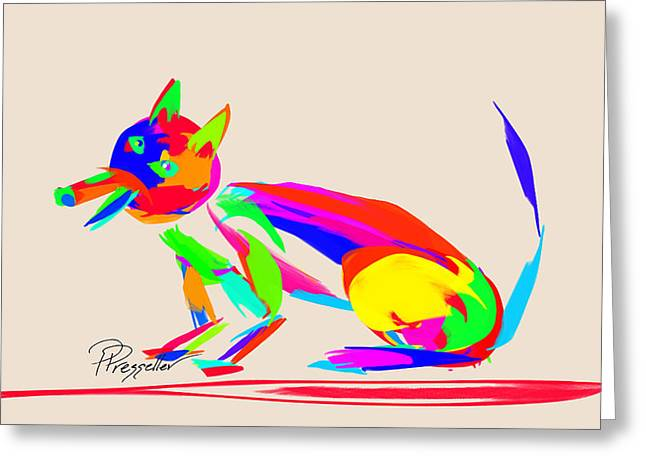 Puppy Digital Art Greeting Cards - Dog Days V Greeting Card by Patricia Presseller