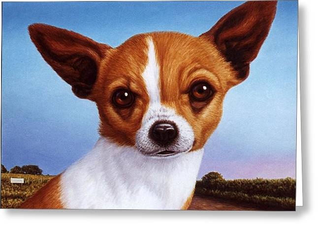 Chihuahuas Greeting Cards - Dog-Nature 3 Greeting Card by James W Johnson