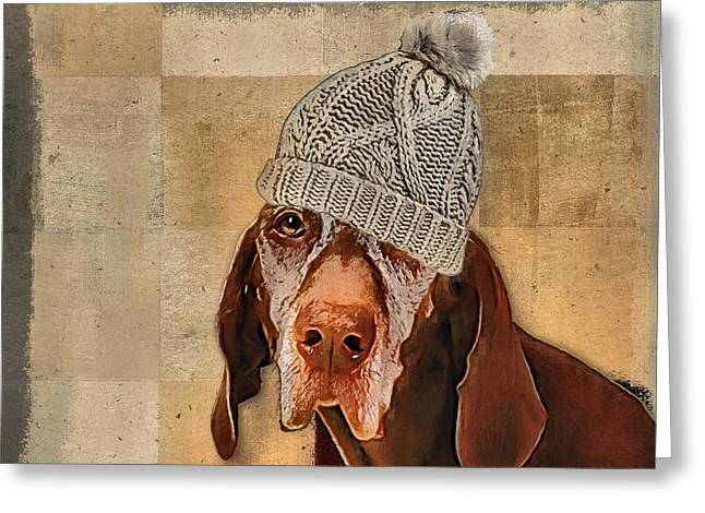 Dogs Digital Art Greeting Cards - Dog Personalities - 442 Greeting Card by Variance Collections