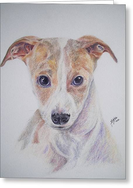 Dog Portrait Greeting Card by Juliana Motzko