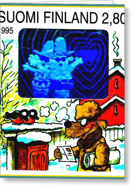 Toy Dog Greeting Cards - Dog reading letter Greeting Card by Lanjee Chee