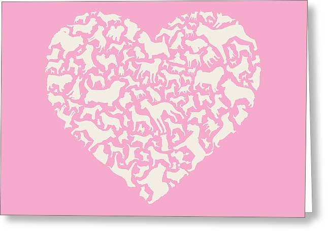 Spaniel Digital Art Greeting Cards - Dog Valentine Greeting Card by Mitch Frey