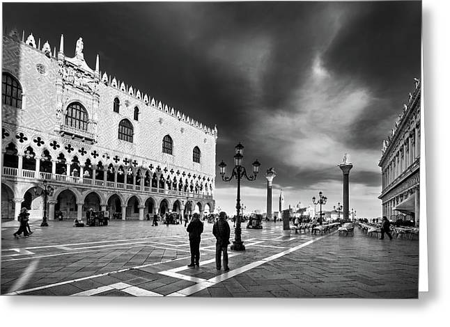 Doge's Palace On St Mark's Square - Venice Greeting Card by Barry O Carroll