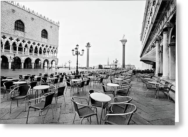 Doge's Palace On Piazza San Marco - Venice Greeting Card by Barry O Carroll