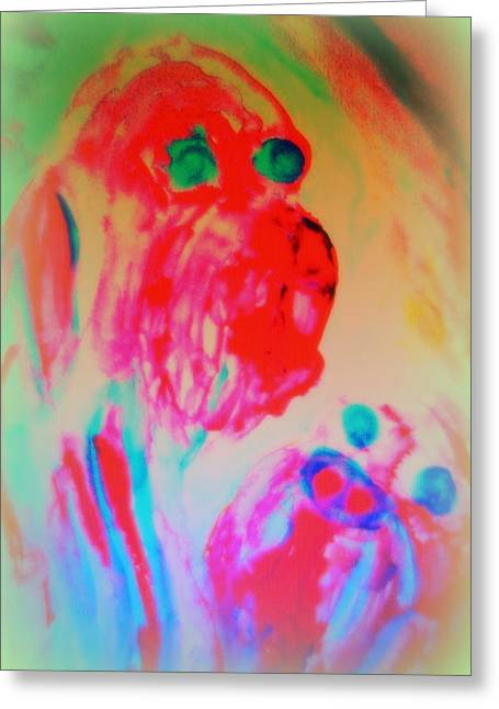 Threat Paintings Greeting Cards - Dogs B  Greeting Card by Hilde Widerberg