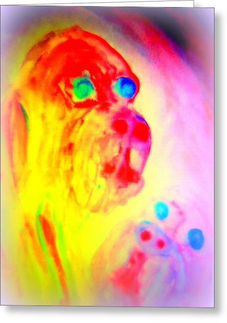 Sweating Paintings Greeting Cards - Dogs D  Greeting Card by Hilde Widerberg