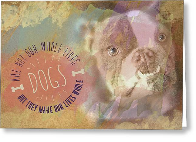 Puppies Photographs Greeting Cards - Dogs Greeting Card by Joye Ardyn Durham