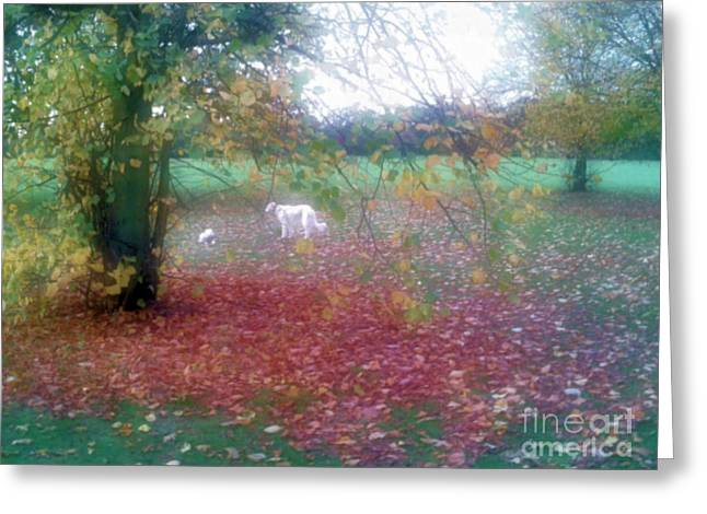 Landscape Framed Prints Greeting Cards - Dogs Roam  Greeting Card by Wei Jia