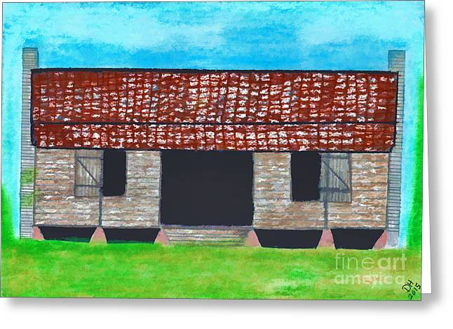 Dogtrot Cracker Home  Greeting Card by D Hackett