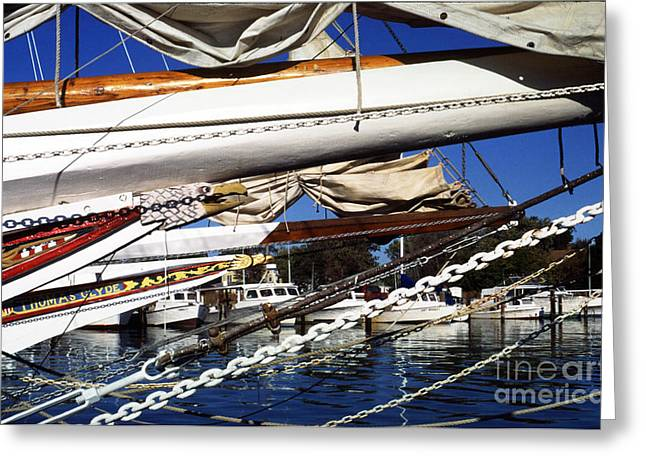 Boats At Dock Photographs Greeting Cards - Dogwood Harbor Greeting Card by Thomas R Fletcher