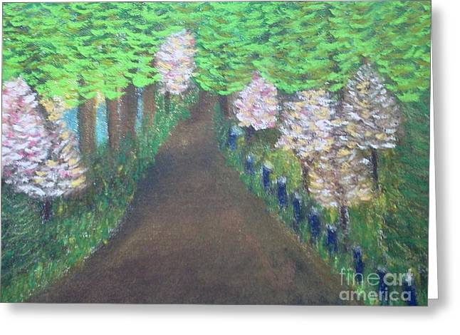 Pastimes Greeting Cards - Dogwood Trails Greeting Card by Cindy  Riley