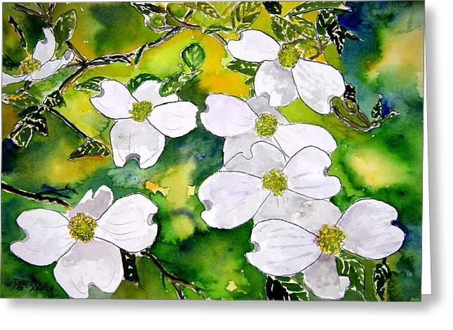 Dogwood Tree Flowers Greeting Card by Derek Mccrea