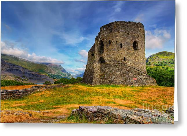 National Digital Greeting Cards - Dolbadarn Castle  Greeting Card by Adrian Evans