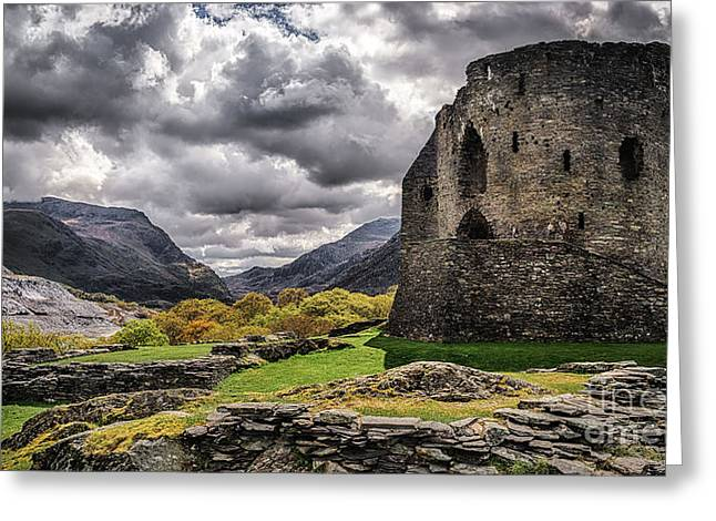 Dolbadarn Castle  Greeting Card by Amanda Elwell