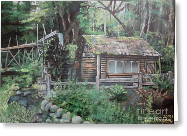 Shack Pastels Greeting Cards - Dolby Water Wheel Greeting Card by Terri Thompson