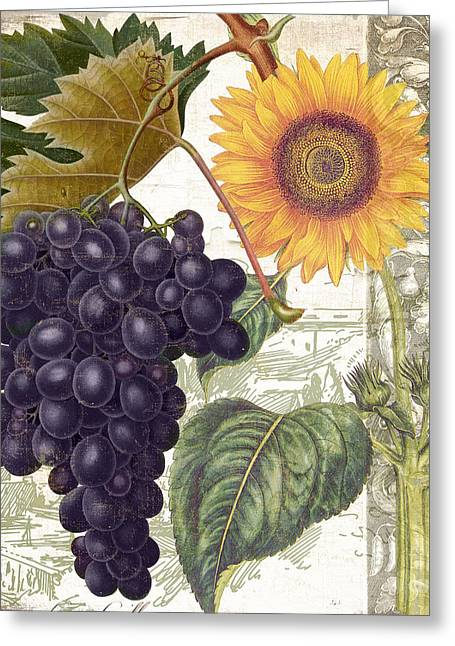 Purple Grapes Paintings Greeting Cards - Dolcetto I Greeting Card by Mindy Sommers