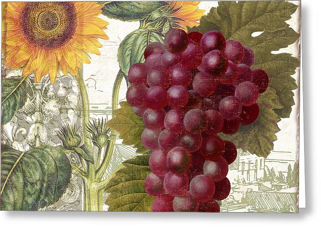 Purple Grapes Paintings Greeting Cards - Dolcetto II Greeting Card by Mindy Sommers