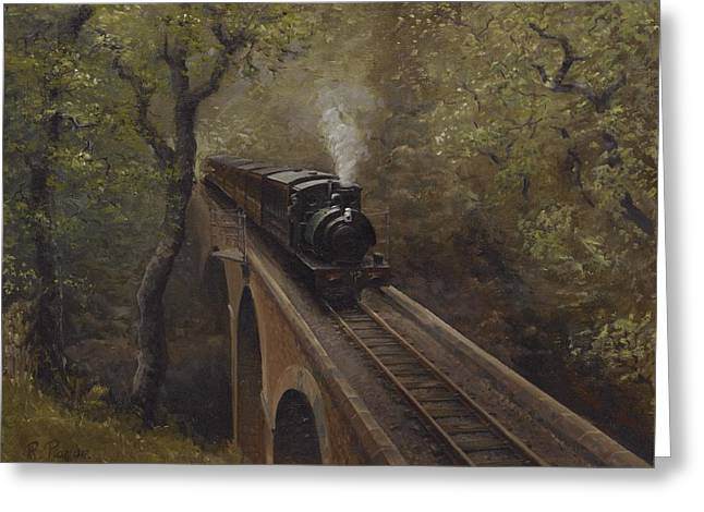 Dolgoch Viaduct Greeting Card by Richard Picton