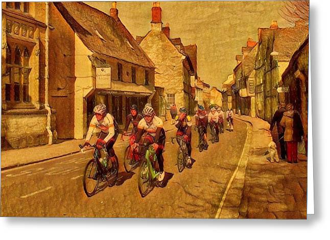 Streetlight Greeting Cards - Dollar Street Cirencester Greeting Card by Patrick Wise