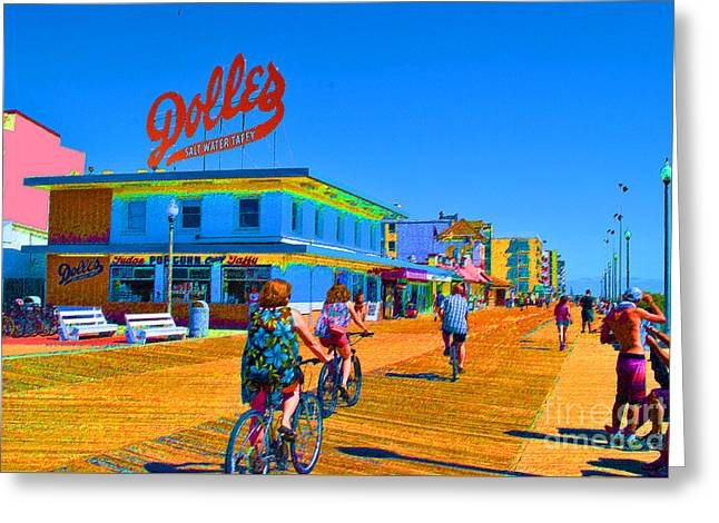 Gay Bar Paintings Greeting Cards - Dolles Wheels Greeting Card by Jost Houk